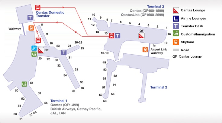 Sydney Domestic Airport getting between terminal 2 and 3